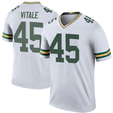Men's Green Bay Packers Danny Vitale White Legend Color Rush Jersey By Nike