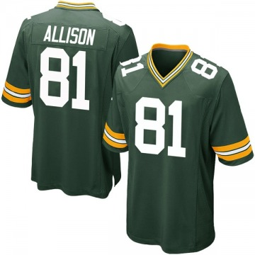 Men's Green Bay Packers Geronimo Allison Green Game Team Color Jersey By Nike