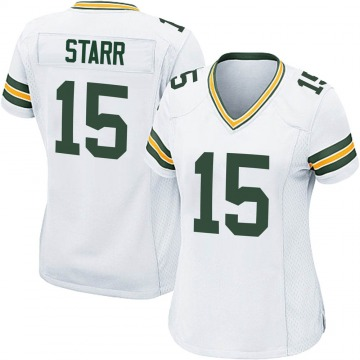 Women's Green Bay Packers Bart Starr White Game Jersey By Nike