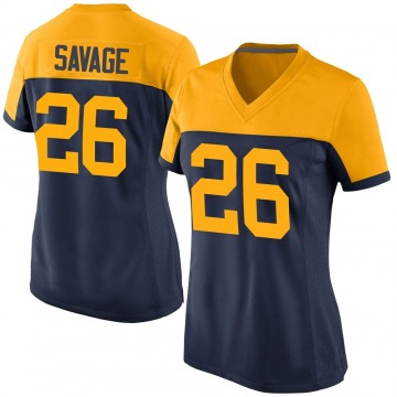 Women's Green Bay Packers Darnell Savage Jr. Navy Game Alternate Jersey By Nike