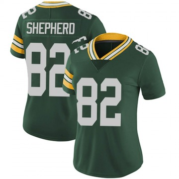 Women's Green Bay Packers Darrius Shepherd Green Limited Team Color Vapor Untouchable Jersey By Nike