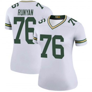 Women's Green Bay Packers Jon Runyan White Legend Color Rush Jersey By Nike