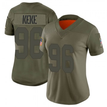 Women's Green Bay Packers Kingsley Keke Camo Limited 2019 Salute to Service Jersey By Nike