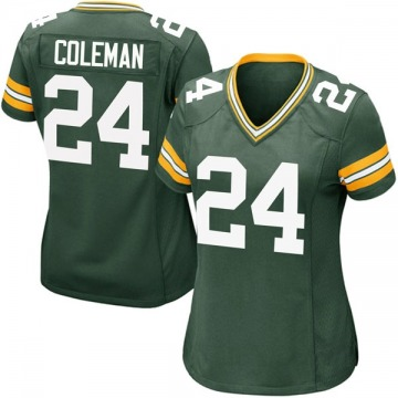 Women's Green Bay Packers Lavon Coleman Green Game Team Color Jersey By Nike