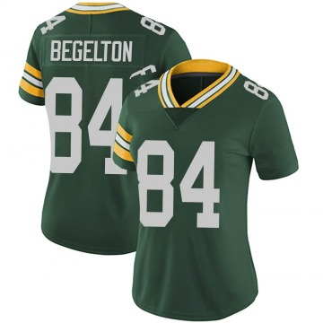 Women's Green Bay Packers Reggie Begelton Green Limited Team Color Vapor Untouchable Jersey By Nike