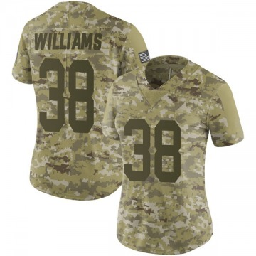 Women's Green Bay Packers Tramon Williams Camo Limited 2018 Salute to Service Jersey By Nike
