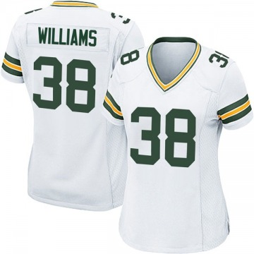 Women's Green Bay Packers Tramon Williams White Game Jersey By Nike