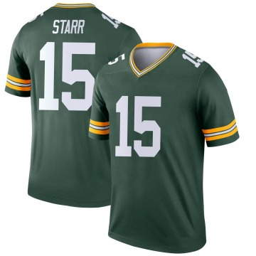 Youth Green Bay Packers Bart Starr Green Legend Jersey By Nike