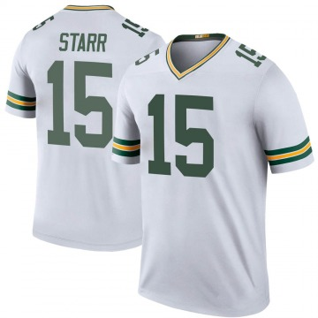 Youth Green Bay Packers Bart Starr White Legend Color Rush Jersey By Nike