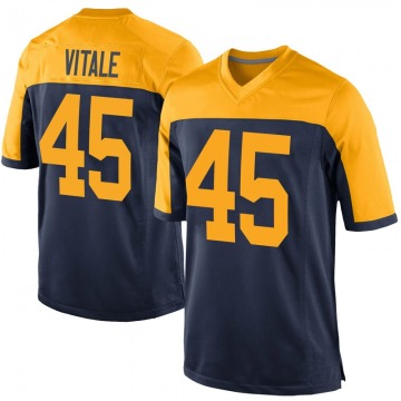 Youth Green Bay Packers Danny Vitale Navy Game Alternate Jersey By Nike