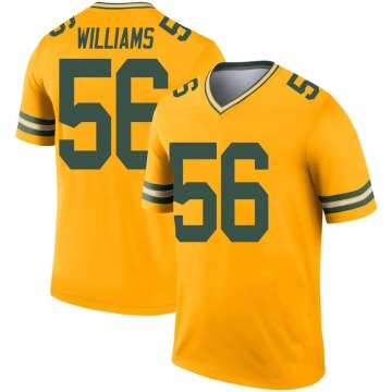 Youth Green Bay Packers Tim Williams Gold Legend Inverted Jersey By Nike