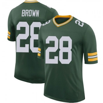 Youth Green Bay Packers Tony Brown Green Limited 100th Vapor Jersey By Nike