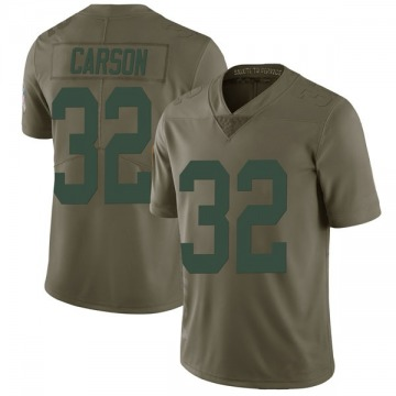 Youth Green Bay Packers Tra Carson Green Limited 2017 Salute to Service Jersey By Nike